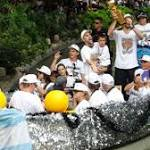 Sports shorts: Spurs, fans celebrate team's NBA championship