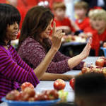 First lady gets moving against House measure to let school districts duck lunch ...