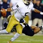 Golson's six TDs help Irish fend off Navy