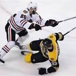 Bruins' rally against Blackhawks falls short