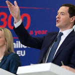 George Osborne defends Treasury's gloomy EU exit forecast