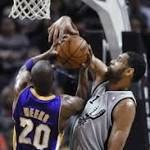 Spurs cruise to largest win ever over Lakers