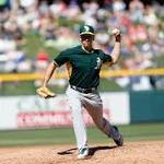 A's call up switch pitcher Pat Venditte