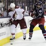 Ryan Johansen's OT goal lifts Jackets over Coyotes