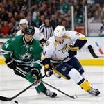 AP News - Benn powers Stars previous Predators four-1