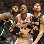 MSU 60, Illinois 53: Spartans endure by making free throws