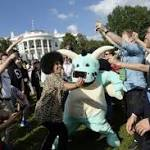 South By South Lawn tech, music festival loosens up the White House