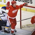 Red Wings matched Blues' grit, tenacity, earning key come-from-behind OT win ...
