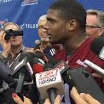 Michael Sam, 1st openly gay NFL draftee, rejoins CFL team