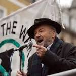 George Galloway, Mark Rylance and Brian Eno join London protest over Syria ...
