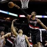 Blazers score big victory at Spurs