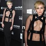 Miley Cyrus Turns Heads With Gown and Giving at Amfar Gala