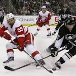 Red Wings lose to Penguins, but clinch 23rd consecutive playoff berth