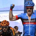 Garmin Sharp's Tyler Farrar wins the fourth stage of the Tour Of California