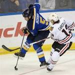 Blackhawks fall to Blues in typical chippy game