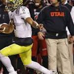 Freaky fumble return helps Oregon beat Utah 51-27