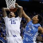 No. 1 Kentucky rolls No. 21 North Carolina 84-70