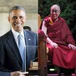 Obama, Dalai Lama Share Greetings At Prayer Event