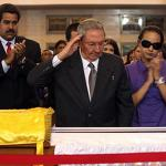 Hugo Chavez's coffin parades past deadly slums, food lines in broken Venezuela
