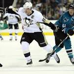 Niemi Leads Sharks Past Penguins 2-1 in Shootout
