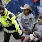 Victim in famous photo marks year since marathon