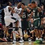 UConn beats USF 69-43 in first round of AAC tourney