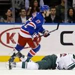 MINNESOTA SPORTS ROUND-UP: Wild blow 4-1 lead, lose to Rangers 5-4