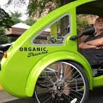 Not a car or bicycle, but a blend — an ELF vehicle