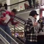 Anti-Trump protester tackled at Ohio State