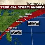 Tropical Storm Andrea a little stronger in the Gulf as it bears down on Florida coast
