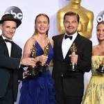 Backstage at the Academy Awards: Reactions from Leonardo DiCaprio, Brie Larson and more