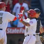 Angels outslug White Sox to end skid
