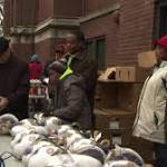 Archbishop Cupich Hands Out Holiday Meals At South Side Parish