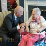 Vice President charms 108-year-old woman