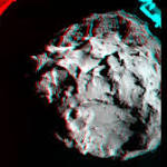 Rosetta Comet Landing in 'Thud' and 3D