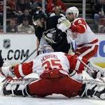 Red Wings stop Penguins in OT
