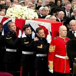 Margaret Thatcher's funeral: 'Lying here, she is one of us'