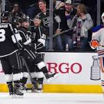 Kings regain playoff spot by crushing Oilers