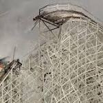 Colossus roller coaster at Magic Mountain goes out in flames