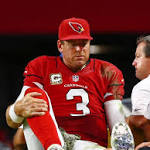 Cardinals win but fear torn ACL for Carson Palmer