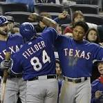 Rangers Ride 10-Run 3rd Inning in 15-4 Rout of Yankees