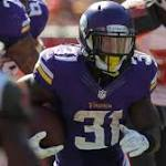 Vikings RB McKinnon says he will miss Sunday's game