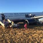 US Airways plane blows tire on takeoff in Philadelphia, passengers evacuated