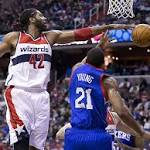 Wizards hand Sixers third straight loss