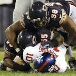 Where was the Bears' D-line?