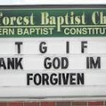 Only God can forgive us our sins
