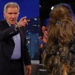 Harrison Ford Chews Out Chewbacca on Jimmy Kimmel as Disney Announces ...