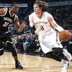 Nets' 2-game win streak snapped by short-handed Pelicans