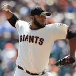 Giants' Petit retires 46th batter in a row