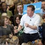 David Cameron mocks Ed Miliband's tablet manifesto as he gets worked up